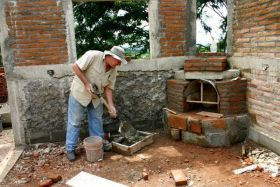 Building fireplace in Nicaragua home – Best Places In The World To Retire – International Living