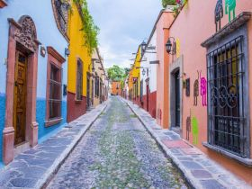 Colorful street in San Miguel de Allende – Best Places In The World To Retire – International Living
