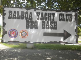 Balboa Yacht Club Panama BBQ Bash Sign – Best Places In The World To Retire – International Living