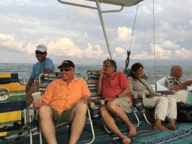 Expats enjoying the weather at Grand Baymen in Ambergris Caye, Belize – Best Places In The World To Retire – International Living