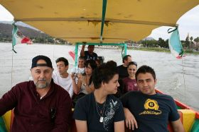 Family enjoying a boat ride on Lake Chapala, Mexico – Best Places In The World To Retire – International Living