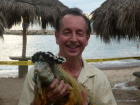 Gary Coles with iguana in Mexico – Best Places In The World To Retire – International Living