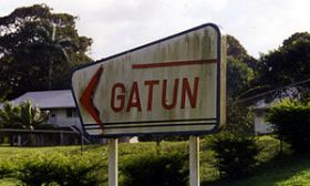 Gatun's Canal Zone style sign, Jadwin Road  – Best Places In The World To Retire – International Living