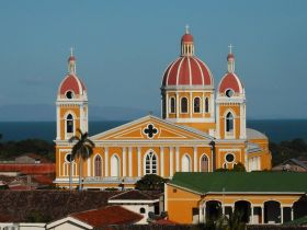 Granada, Nicaragua Cathedral with lake in the background – Best Places In The World To Retire – International Living