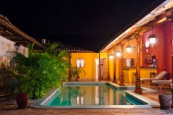 Colonial home in Granada, pool view, at night – Best Places In The World To Retire – International Living