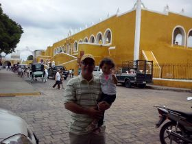 Alfonso Galindo with daughter Zara in Izamal – Best Places In The World To Retire – International Living