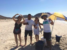 Jet Metier with people on the beach in Baja California Sur