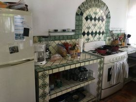 Kitchen of rental home in Lo de Marcos, Mexico