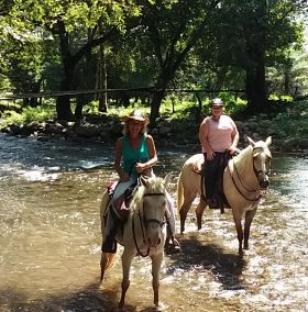 Kjersten Van Horn riding her horse with a friend in Boquete – Best Places In The World To Retire – International Living