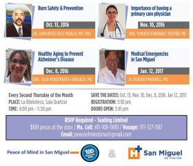 Lecturer for Medical Emergencies with Mexico Insurance Advisers, San Miguel de Allende, Mexico – Best Places In The World To Retire – International Living
