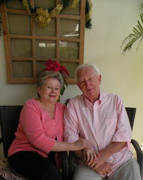 Linda and Arne Jensen seated in Boquete – Best Places In The World To Retire – International Living
