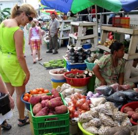 Lisa Lamareaux at Punta Gorda Market, Belize – Best Places In The World To Retire – International Living