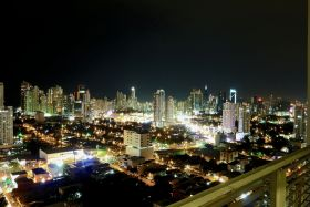 Panama City Panama at night, from balcony – Best Places In The World To Retire – International Living