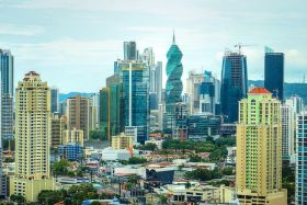 Panama City Panama view of skyline with screw in background – Best Places In The World To Retire – International Living