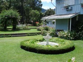 Outside the Hotel Panamonte in Boquete, Panama, looking at the fountain – Best Places In The World To Retire – International Living