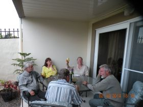 Party on the Jensson's patio at Boquete Valley of Flowers – Best Places In The World To Retire – International Living