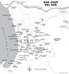 San juan del sur travel transportation getting around street map of san juan del sur nicaragua best places in the world to publicscrutiny Choice Image