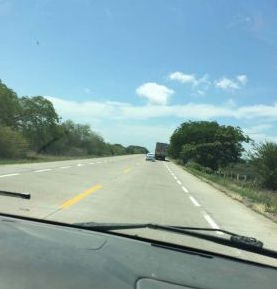 Toll road south of Mazatlan