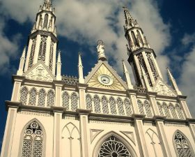 Basílica Menor Don Bosco Panama Exterior, looking up from the street – Best Places In The World To Retire – International Living