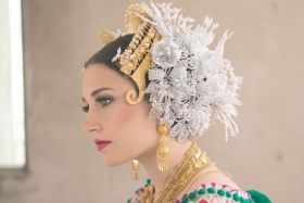 tembleques head dress for pollera, traditional Panamanian headdress – Best Places In The World To Retire – International Living