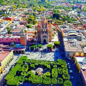 Aerial view of parroquia and gardens in San Miguel de Allende – Best Places In The World To Retire – International Living