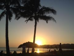 Sunset on the beach with palm trees in Venao, near Pedasi, Panama – Best Places In The World To Retire – International Living