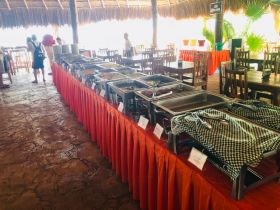 Line of buffet items in Isla Mujeres – Best Places In The World To Retire – International Living