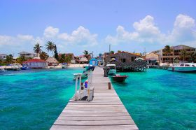 San Pedro Ambergris Caye pier looking towards shore – Best Places In The World To Retire – International Living