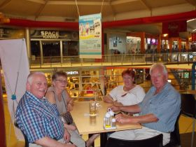 The Larsen's and Jensen's at Albrook Mall in Panama City for lunch. – Best Places In The World To Retire – International Living