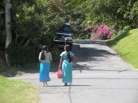 December in Boquete, two young women in traditonal dress. – Best Places In The World To Retire – International Living