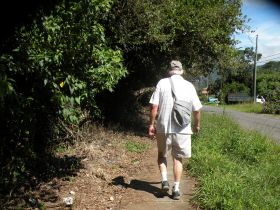 Arne Jensen walking on a path near the road in Boquete, Panama – Best Places In The World To Retire – International Living