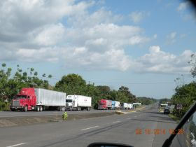 A typical day for trucks at the border crossing between Panama and Costa Rica – Best Places In The World To Retire – International Living