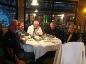 Dinner with friends at nice restaurant in Boquete – Best Places In The World To Retire – International Living
