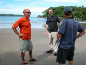 Michael Vuytowecz being shown beachfront property in Panama – Best Places In The World To Retire – International Living
