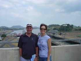 Michael and Martha Vuytowecz at the Panama Canal – Best Places In The World To Retire – International Living
