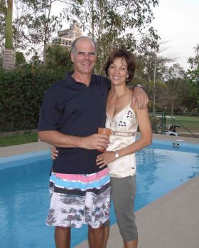 Michael and Martha Vuytowecz at the pool in Panama in 2009  – Best Places In The World To Retire – International Living