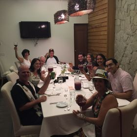 Mike Vuytowecz at a business dinner in Panama – Best Places In The World To Retire – International Living