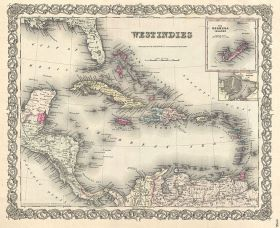 (1855 map of the West Indies and the Caribbean Sea, which includes Panama, pictured.)  – Best Places In The World To Retire – International Living