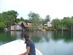 Anne-Michelle Wand Bocas Del Toro, Panan boat approaching village – Best Places In The World To Retire – International Living